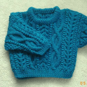 Aran Baby Sweater Knitting Pattern Pictures