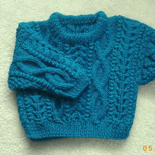 Baby Pullover Sweater Knitting Pattern : BABY ARAN SWEATER PATTERNS Free Baby Patterns