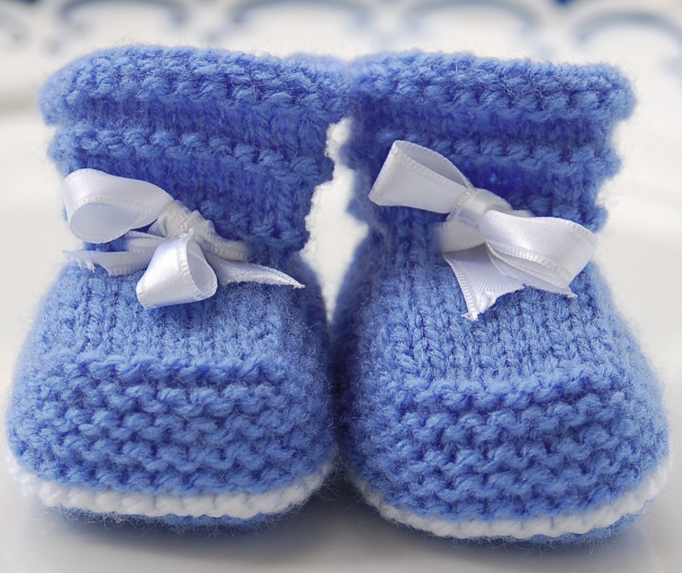 Knit Baby Shoes Pattern Free : Baby Booties Knit Patterns A Knitting Blog