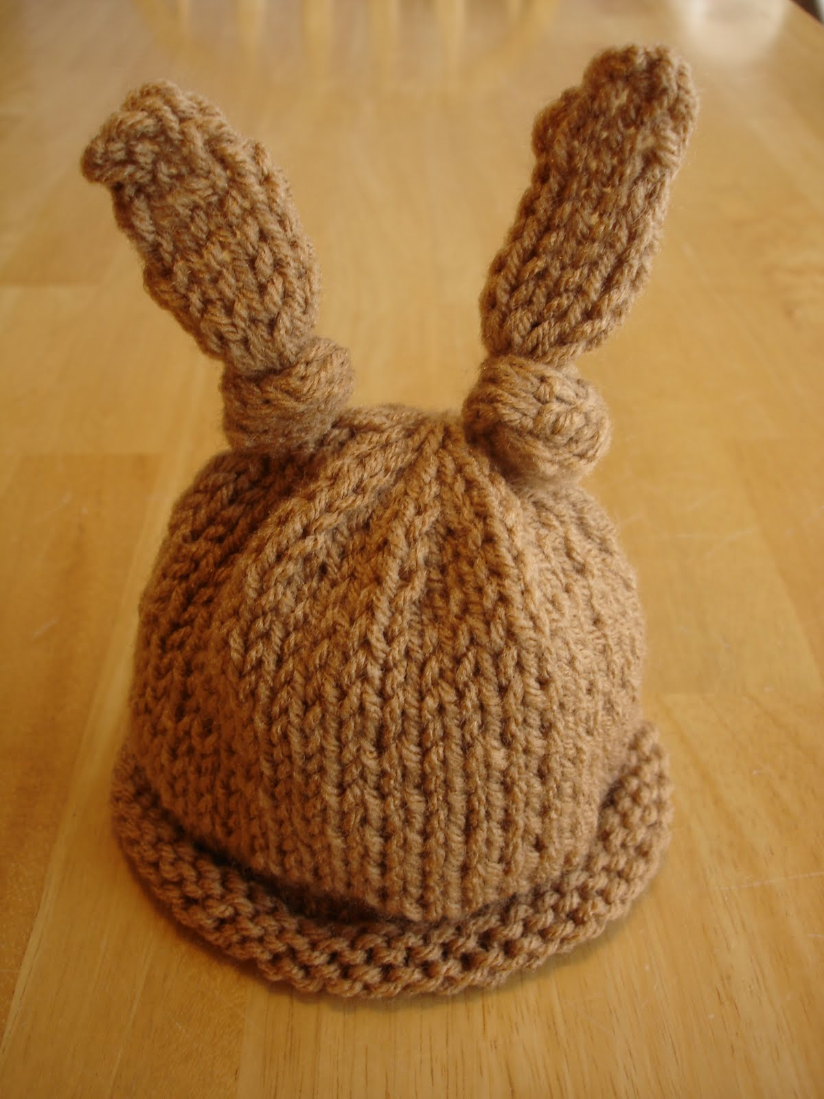 Baby Bunny Hat Knitting Pattern : Modal title