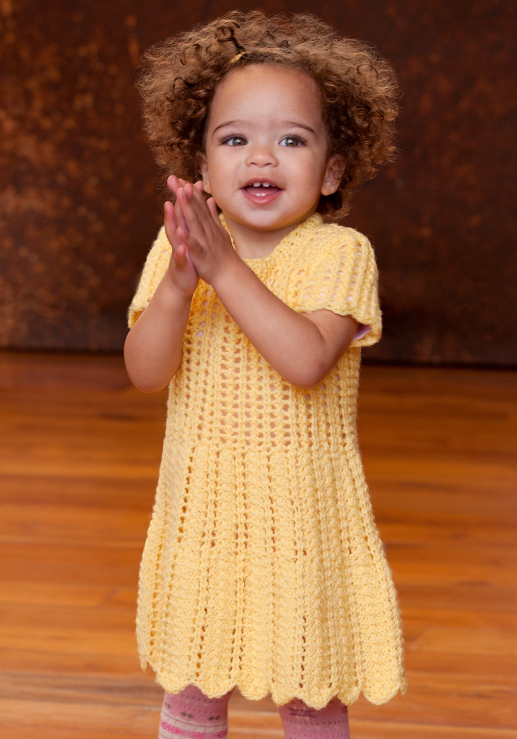 Knitting Patterns Baby Dress images