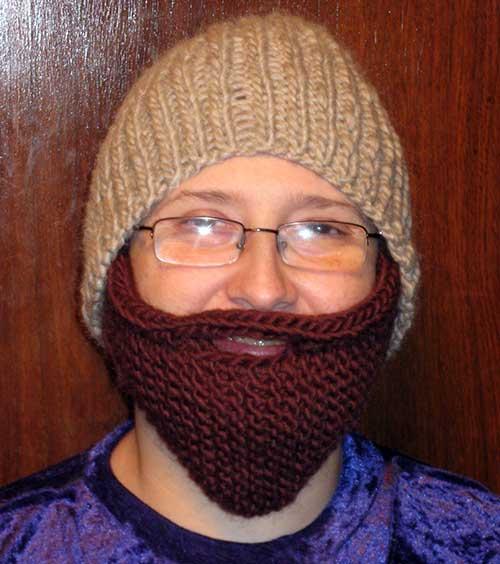 Beanie Hat With Beard Crochet Pattern Free : Knitted Beard Hat Pattern A Knitting Blog