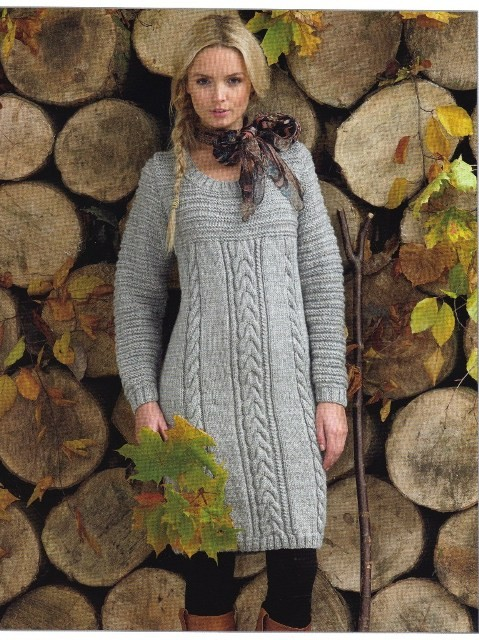 Knit A Sweater Dress Pattern Sweater Grey