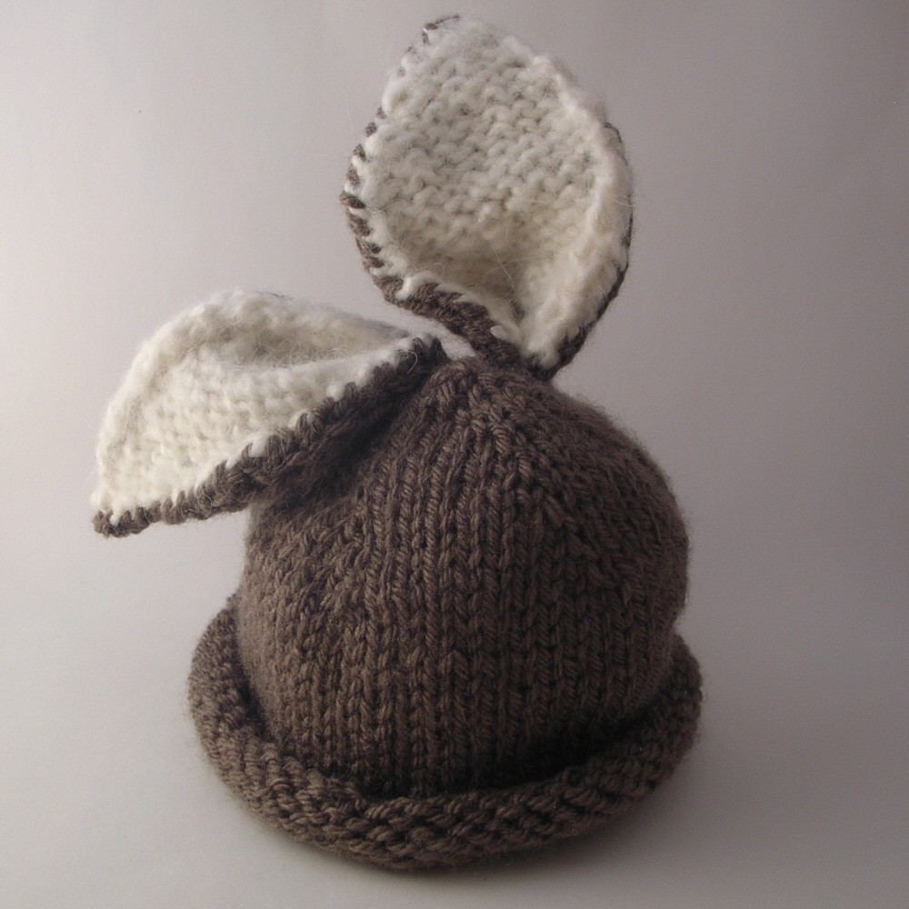 how to knit a baby bunny hat quilt pattern