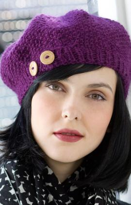 KNITTED BERET WITH BRIM PATTERN | DESIGNS & PATTERNS