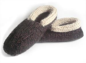 Images of Cabin Slippers For Men Loom Knitting Tutorial