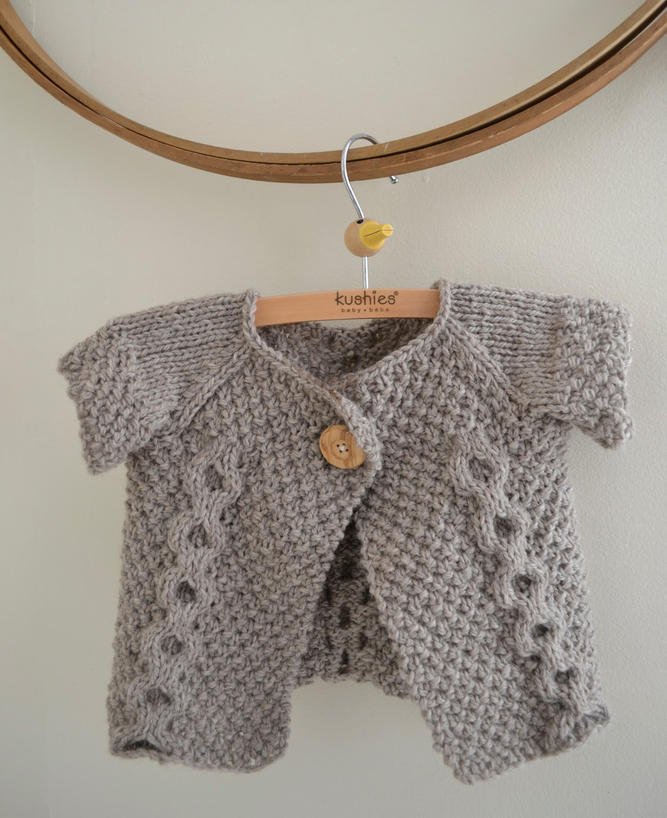 Simple Baby Cardigan Knitting Pattern : Baby Sweater Cable Knitting Pattern - Long Sweater Jacket