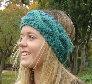 Cable Rope Headband Knitting Pattern Photos