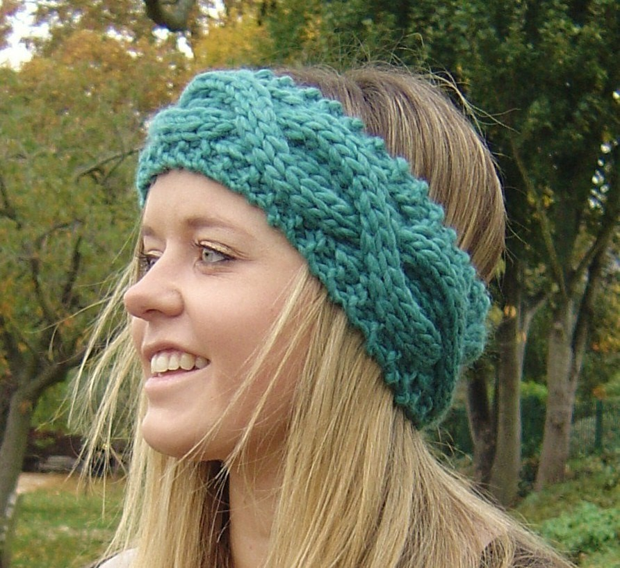 Knitted Headbands Pattern : Cable Knit Headband Patterns A Knitting Blog