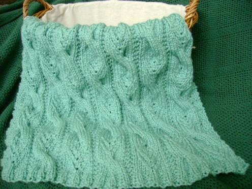 Images of Cabled Baby Afghan Knitting Pattern