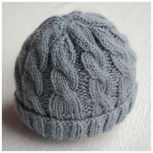 Knitted Infant Hat Patterns : Cable Knit Hat Pattern A Knitting Blog