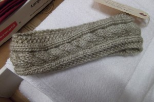 Cabled Knit Headband Pattern Instruction Image