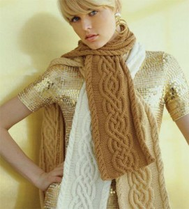 Photos of Cabled Knitting Scarf Pattern Design