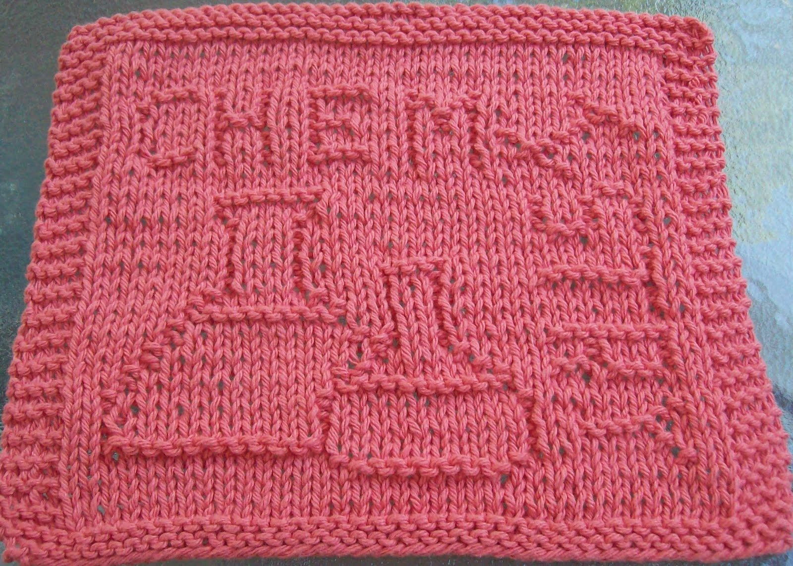 Dish Cloth Knitting Pattern : Knitted Dishcloth Patterns A Knitting Blog