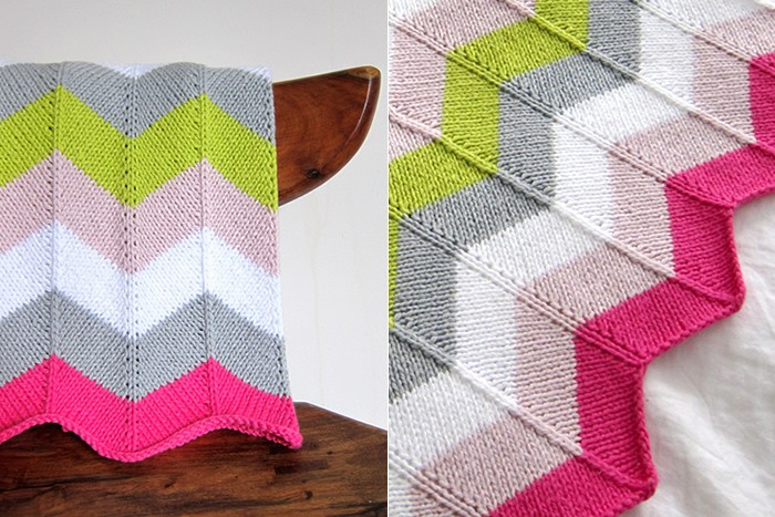 Free Knitting Pattern For Chevron Blanket : Image of Chevron Baby Blanket Knitting Pattern Images - Frompo
