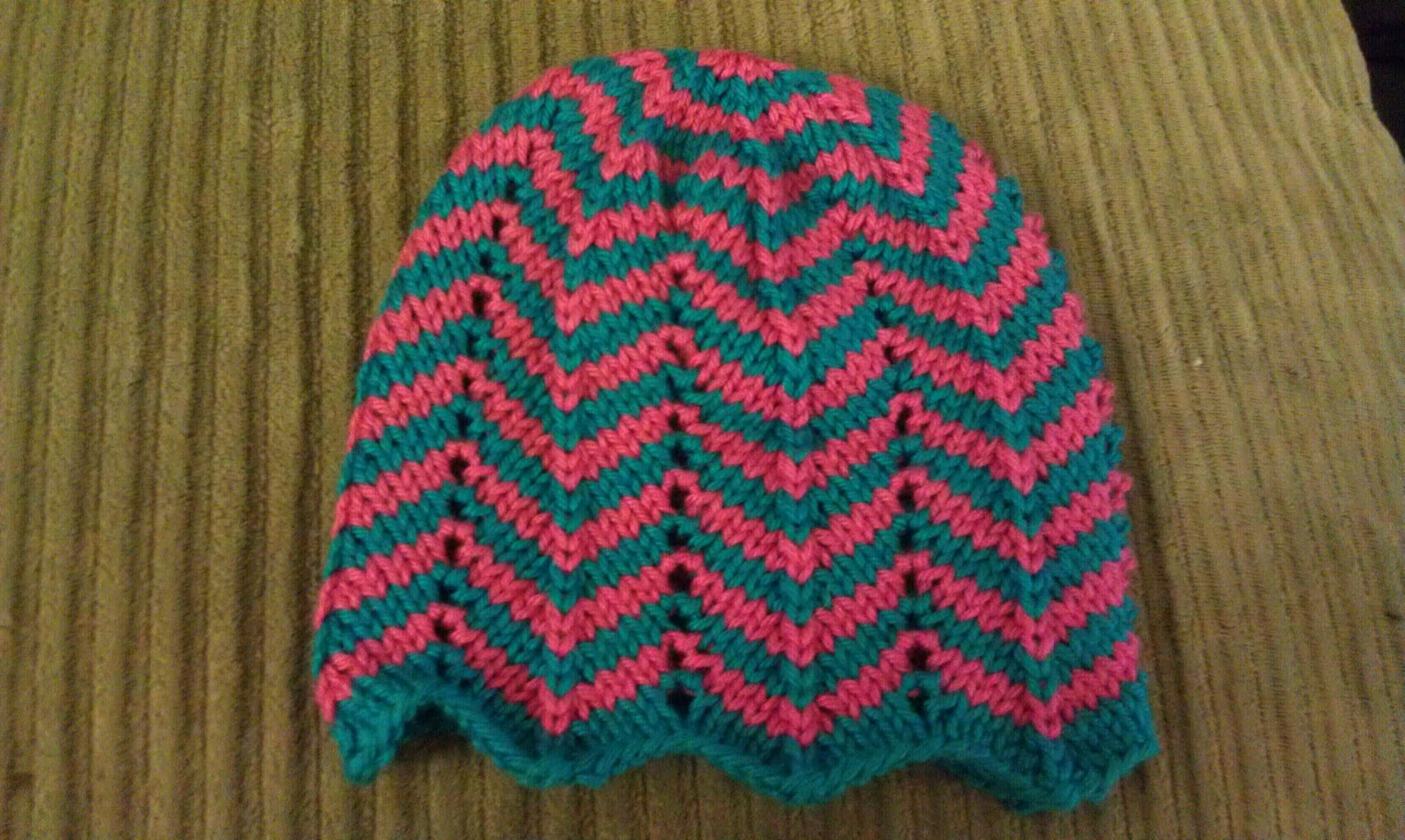 Chevron Knitting Pattern A Knitting Blog