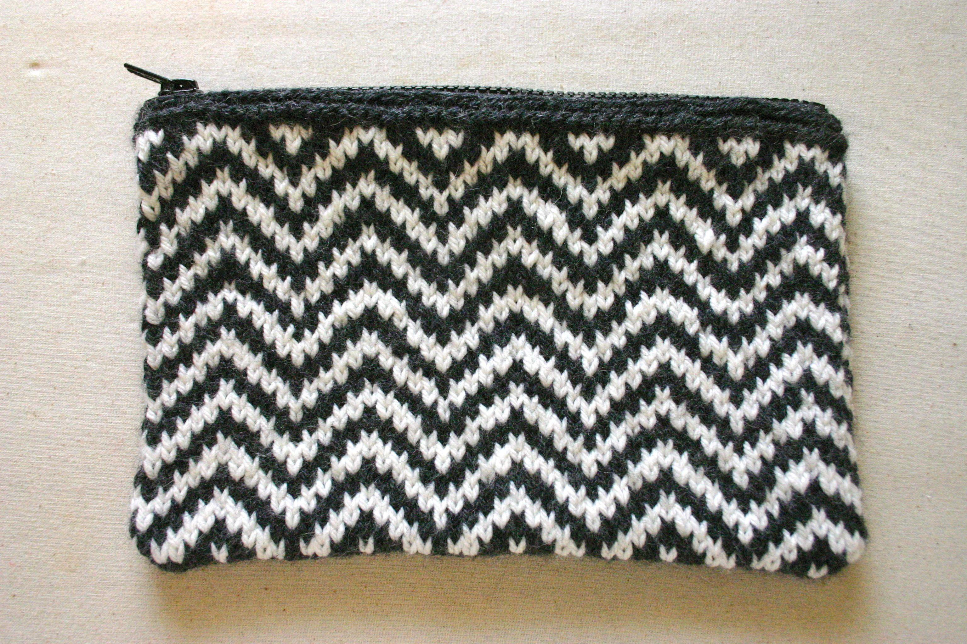 Knitted Handbags Patterns : Chevron Knitting Pattern A Knitting Blog