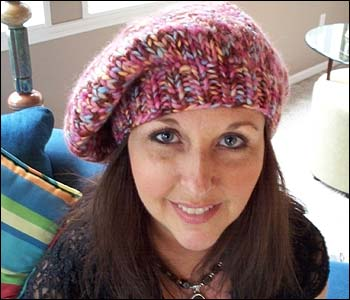 Knitting Patterns For Berets And Hats : Knit Beret Hat Pattern A Knitting Blog