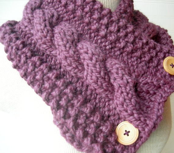 Free Knitting Pattern Chunky Cable Scarf : Free Bulky Knit Scarf Patterns Car Interior Design