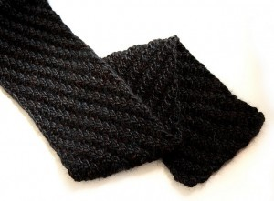Chunky Reversible Scarf Knitting Pattern Picture