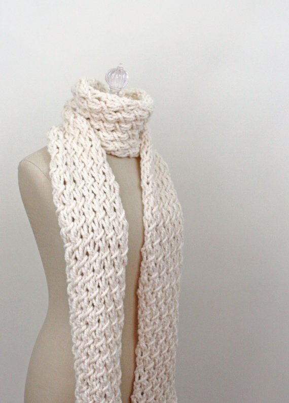 Knitting Pattern For Thick Scarf : Chunky Knit Scarf Pattern A Knitting Blog