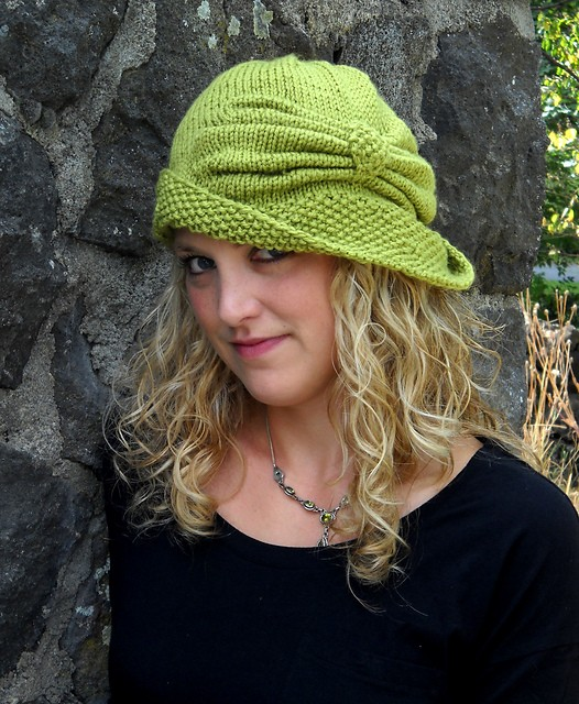 Knit Cloche Hat Pattern A Knitting Blog