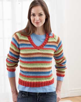 Knitting Pattern Striped Sweater : Knitted Sweater Patterns for Women A Knitting Blog