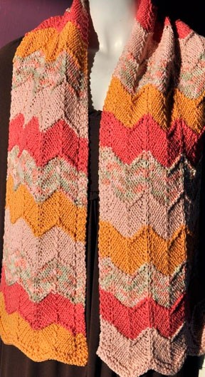 Knitting Pattern Cotton Scarf : Chevron Scarf Knitting Pattern A Knitting Blog