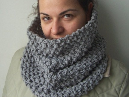Free Knitting Pattern For Tube Scarf : Chunky Knit Scarf Pattern A Knitting Blog