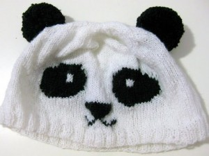 DIY Knitted Panda Hat Pattern Photos