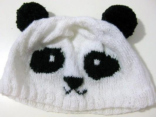Panda Bear Knitting Pattern : Knitted Panda Hat Patterns A Knitting Blog
