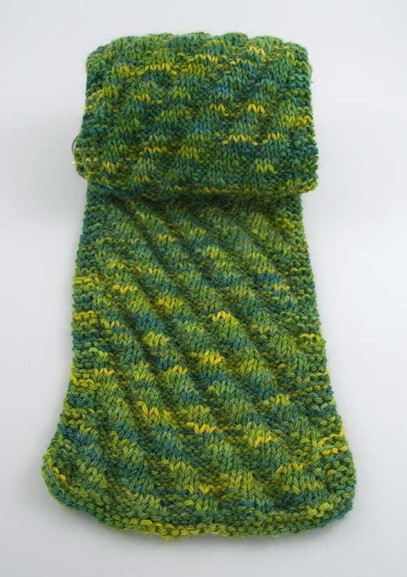 Knitting Rib Stitch Scarf : Diagonal Knit Scarf Pattern A Knitting Blog