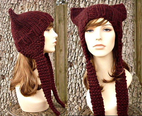 Knit Hat With Animal Ears Pattern : Knitted Cat Hat Patterns A Knitting Blog