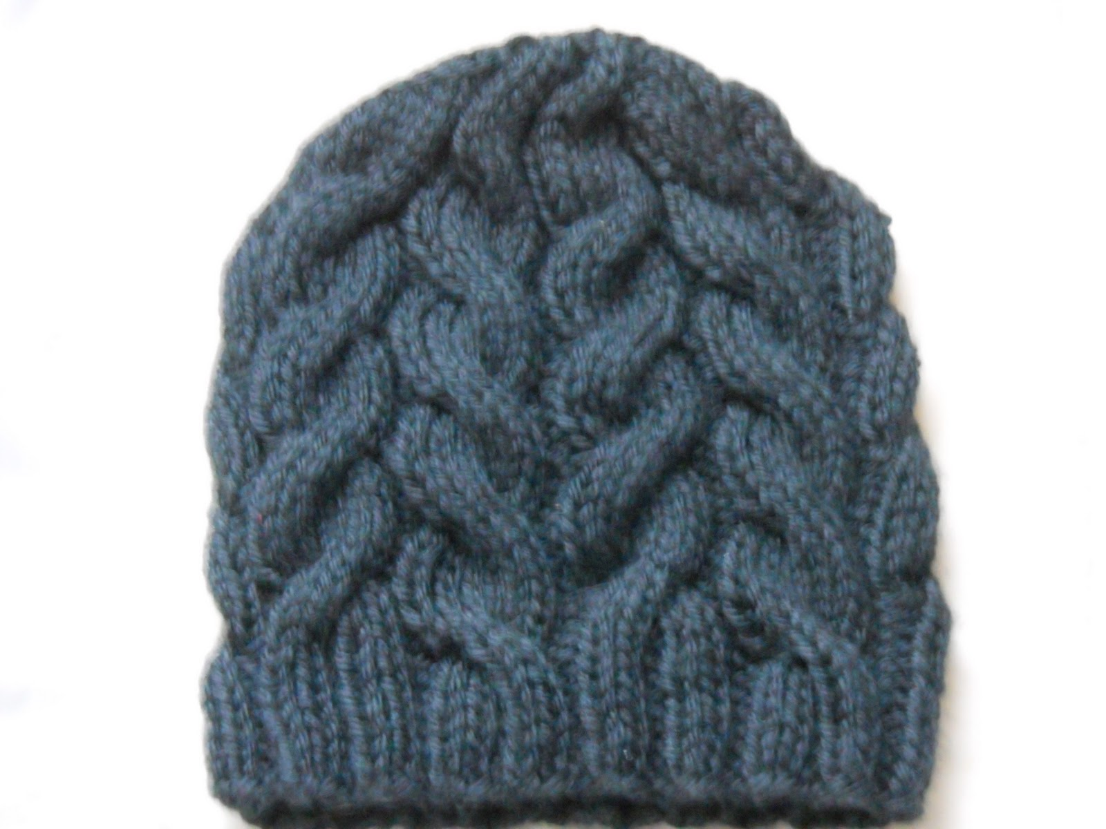 Easy Hat Knitting Patterns : Cable Knit Hat Pattern A Knitting Blog