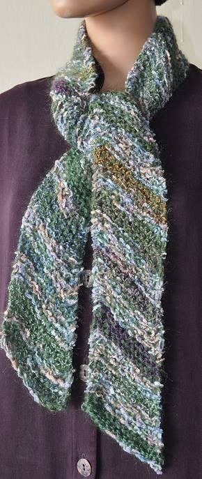 Diagonal Knit Scarf Pattern A Knitting Blog