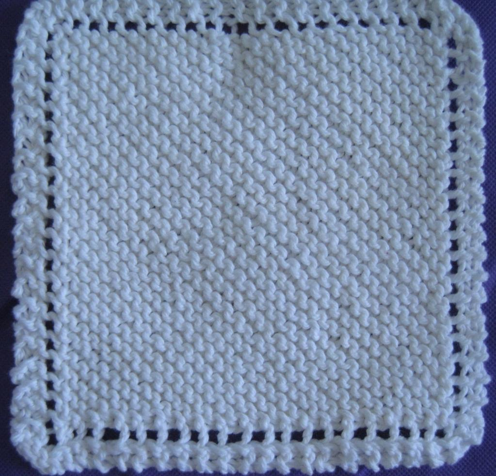 Simple Dishcloth Knitting Pattern : Easy Knitted Dishcloth myideasbedroom.com