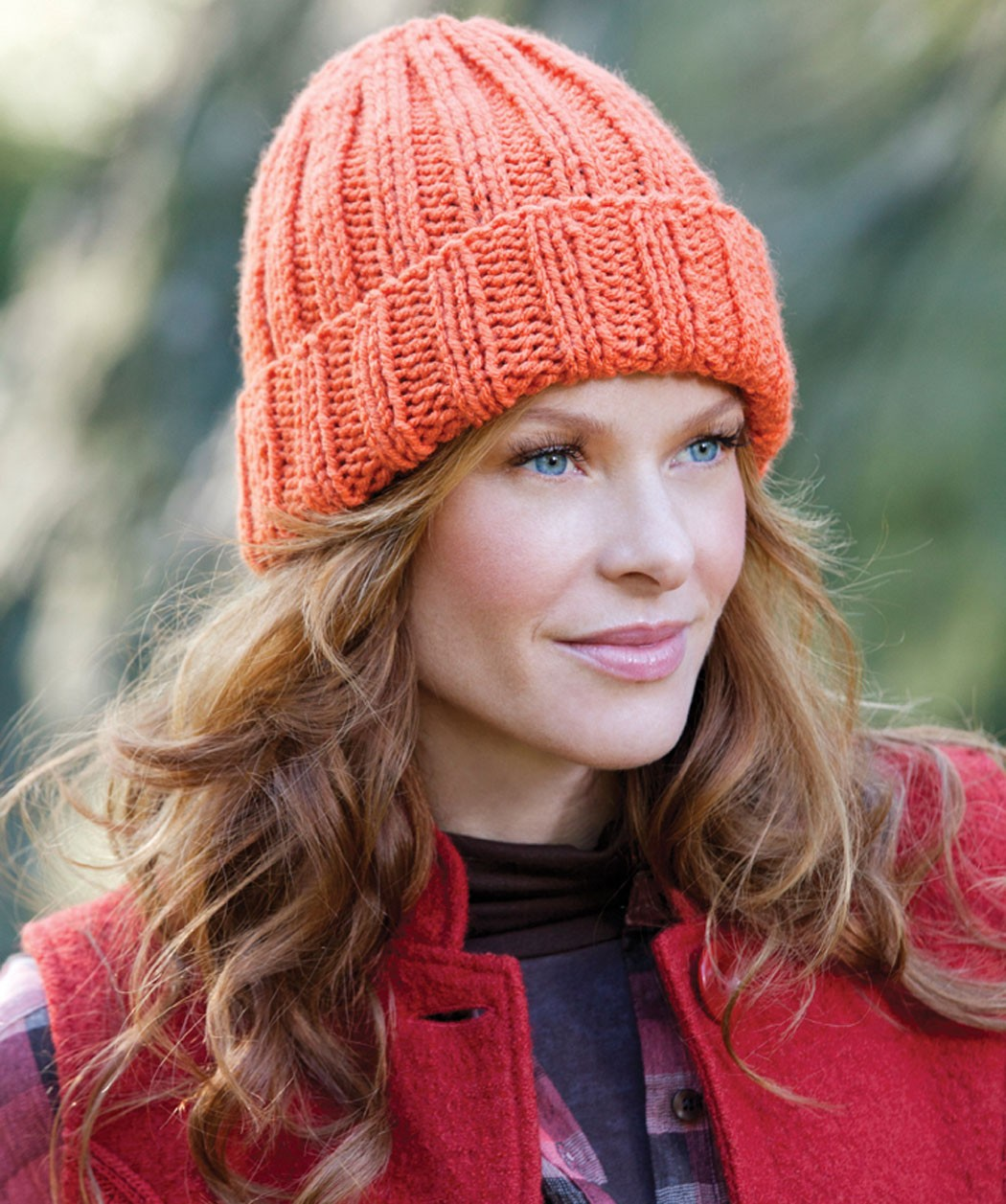 Knitting Pattern Ribbed Bobble Hat : Free Easy Knit Hat Pattern Car Interior Design