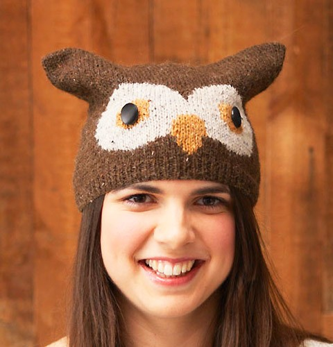 Knit Owl Hat Pattern A Knitting Blog