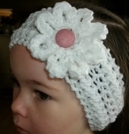 Knitted Headband Patterns With Flower : Pattern Crocheted Flower Headband Baby Headband Headband Rachael Edwards