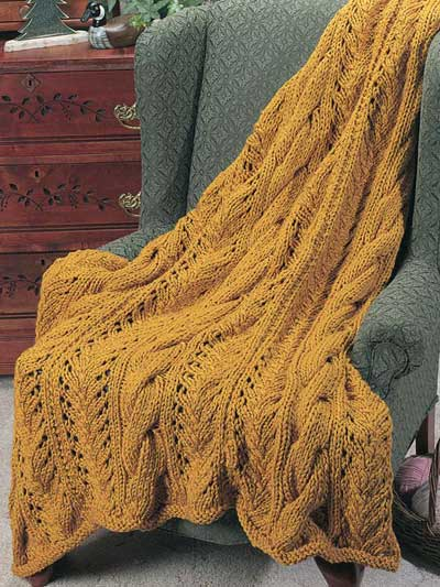 Knit Cable Afghan Pattern : Knitted Afghan Patterns A Knitting Blog