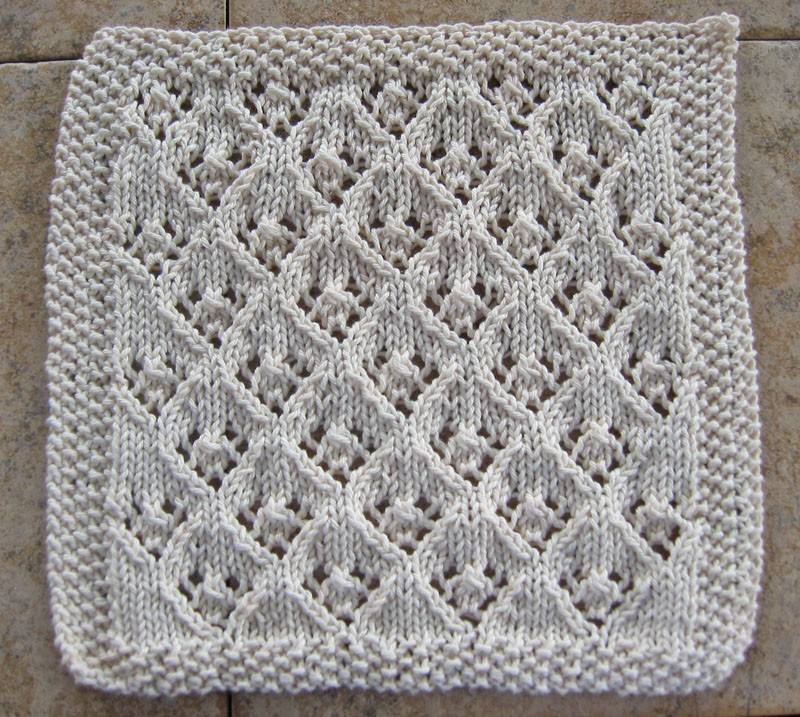 Knitting A Dishcloth Pattern Easy : Lace Knitting Patterns A Knitting Blog
