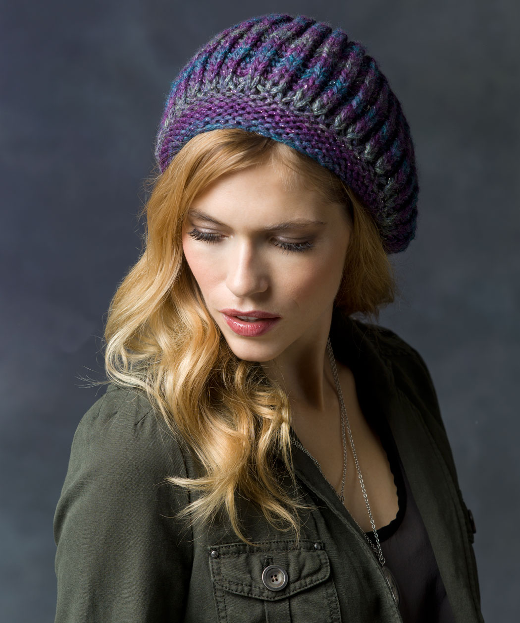Free Knitted Flowers Patterns : Knit Beret Hat Pattern A Knitting Blog