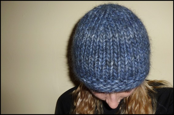 Knitting Pattern Hat Straight Needles Free : Chunky Knit Hat Pattern A Knitting Blog