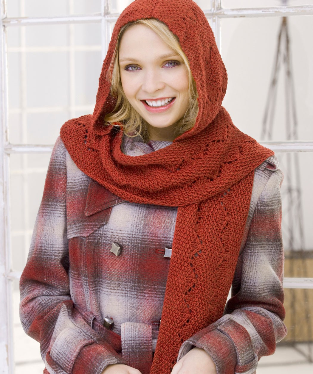 Free Knitting Pattern Hooded Scarf Pockets : Hooded Scarf Pattern Free images