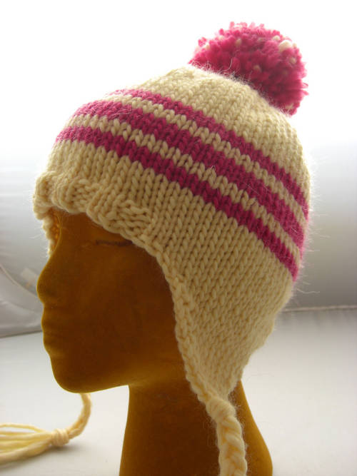 Knitting Patterns Hats : Earflap Hat Knitting Pattern A Knitting Blog