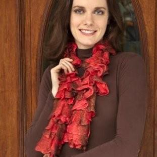 Ruffle Scarf Knitting Pattern | A Knitting Blog