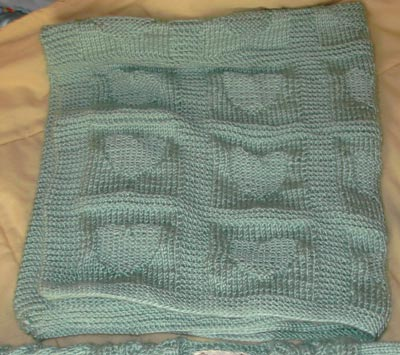 Knitted Blanket Patterns For Babies : Heart Baby Blanket Knitting Pattern A Knitting Blog