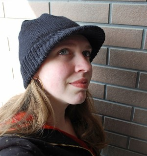 Knit Beanie with Visor Pattern | A Knitting Blog