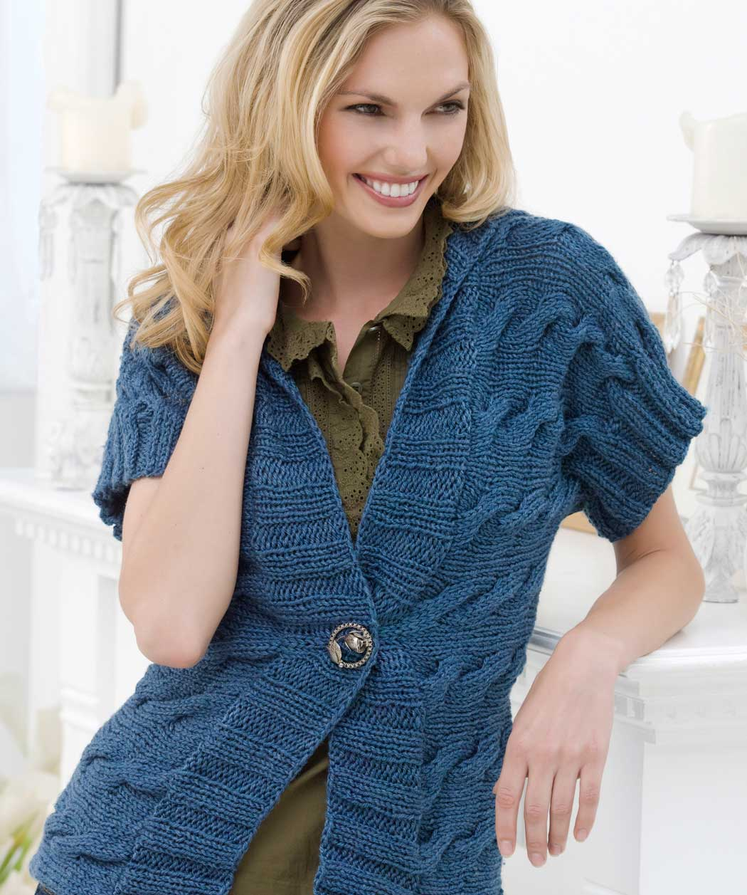 Free Sweater Vest Knitting Patterns images