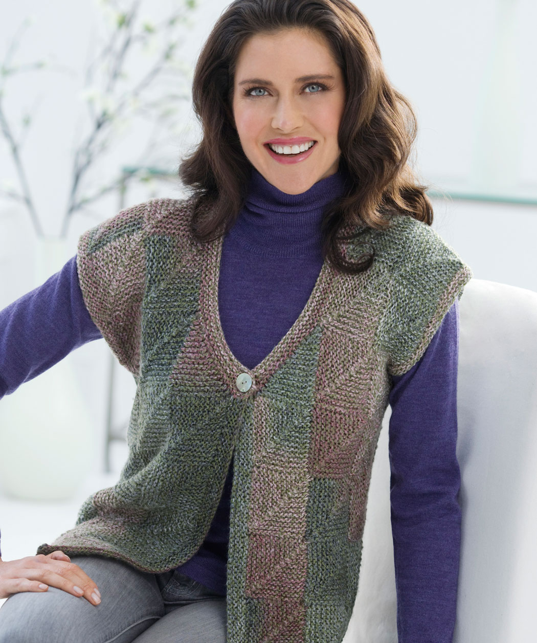 Knitting Sweater Patterns For Women : Free Sweater Vest Knitting Patterns images
